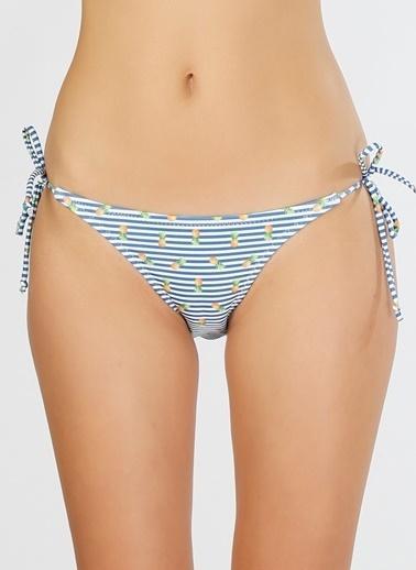 T-Box TBox Ananas Desenli Bikini Alt Lacivert